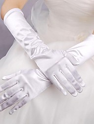 cheap -Elastic Satin Elbow Length Glove Bridal Gloves Classical Feminine Style
