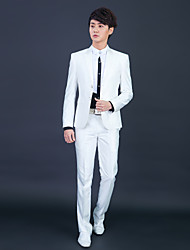 cheap -Tuxedos Slim Fit Slim Peak Single Breasted Two-buttons Polyester Solid