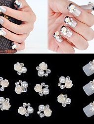 cheap -10 Pearls Nail Jewelry Flower Classic Wedding Daily Flower Classic Wedding High Quality