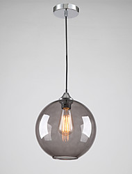 cheap -Modern Glass Pendant Light in Round Smoke grey Bubble Design