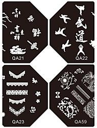 preiswerte -1pc neues Design Nagel, der Bild-Platten suki frenchy Platte für diy Nail Art Verzierungen (verschiedene Muster)