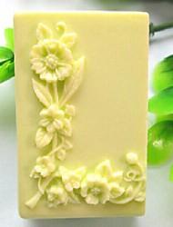 piazza love- l strumenti fiore a forma di torta al cioccolato fondente silicone torta muffa decorazione, l6.7cm * w4.9cm * h3.2cm