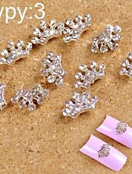 Недорогие -10шт 3d сплав маникюр ювелирные изделия светит мило с буровым небольшой корона искусства ногтя украшения