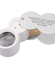 cheap -High Magnification Mirror With Light Source Identification of Jewelry Magnifier
