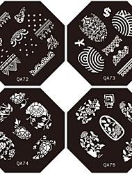 1pc neues Design Nagel, der Bild-Platten schöne Mode Blumenplatte für diy Nail Art Verzierungen (verschiedene Muster)