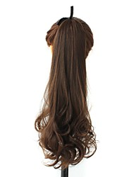 cheap -Brown Curly Ponytails Synthetic Hair Piece Hair Extension