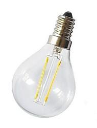 baratos -1pç 220 lm E14 Lâmpadas de Filamento de LED G45 2 Contas LED COB Decorativa Branco Quente 220-240 V / # / CE / RoHs