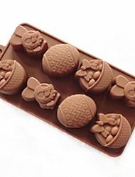 povoljno -Noviteti Led Čokoladno smeđa Keksi Torta/kolači Kruh Silikon Torte za kalupe