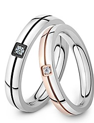 cheap -Men's Women's Couple Rings Titanium Steel Birthstones Wedding Party Daily Casual Sports Costume Jewelry