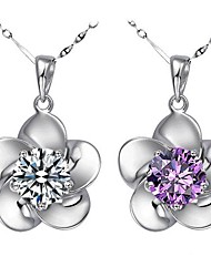 cheap -Women's Cubic Zirconia Sterling Silver Silver Wedding Party Special Occasion Gift Daily Earrings Necklaces Costume Jewelry