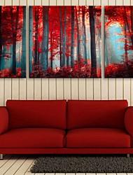 povoljno -Stretched Canvas Print Pejzaž Botanički Tri plohe Vertikalno Print Zid dekor Početna Dekoracija