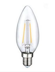 billige -1pc 250 lm E12 LED-glødetrådspærer C35 2 leds COB Dekorativ Varm hvid AC 110-130V