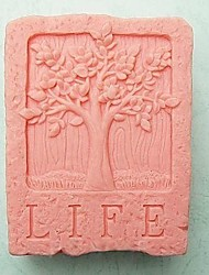 cheap -Life Tree Shaped Fondant Cake Chocolate Silicone Mold Cake Mold,Baking Tool