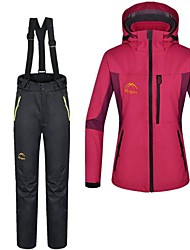Women's Hiking Jacket with Pants Waterproof Thermal / Warm Pants / Trousers 3-in-1 Jacket Winter Jacket Clothing Suits Top for Skiing