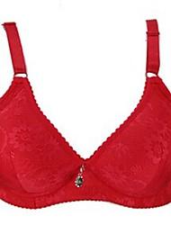 billige -Kvinders 5/8-BH BH Blonde-BH Uden bøjle Push-up - Ensfarvet