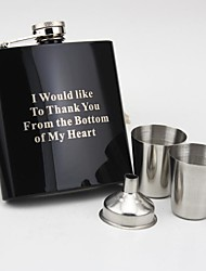regalo personalizzato vernice nera 6 oz vestito benedizione