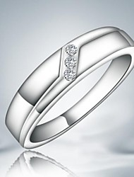 Ring Wedding / Party / Daily Jewelry Alloy Women Band Rings7 / 8 Silver