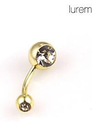 economico -lureme®gold placcato in acciaio inox ombelico / piercing all'orecchio