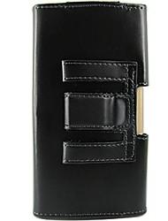 preiswerte -einfarbig pu Ledertasche mit Gürtelclip Ganzkörper-Kasten für iphone 6 Plus