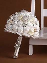 "cheap -Wedding Flowers Bouquets Wedding Bead Lace Rhinestone Polyester 7.87""(Approx.20cm) 10.24""(Approx.26cm)"