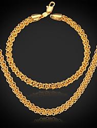 Недорогие -u7® классический 18k реальное позолоченные коренастый ожерелье цепи ювелирных изделий для мужчин / женщин ювелирные изделия