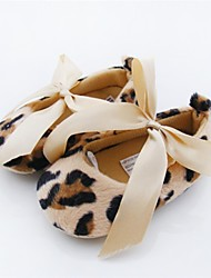 cheap -Baby Girls' Shoes Fleece Spring Fall Flats Bowknot for Casual Outdoor Dress Leopard