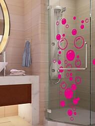 abordables -stickers muraux autocollants de mur, mignon PVC coloré amovibles beauté les bulles rouges stickers muraux.