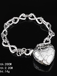 Stylish Silver Women's Bracelet Wedding Party Elegant Feminine Style