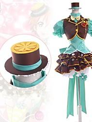 billiga -Inspirerad av Love Live Rin Hoshizora Animé Cosplay-kostymer cosplay Suits Lappverk Kortärmad Väst Skjorta Kjol Huvudbonad Knyta Till