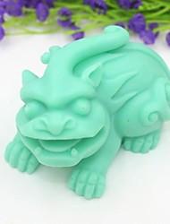 Недорогие -Кирин животного форме цветка помады торт шоколадный силиконовые формы торт украшение инструменты, l9cm * w6.5cm * h5.2cm