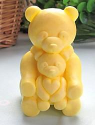 cuore orso animale attrezzi della decorazione a forma di torta al cioccolato fondente silicone torta muffa, l8.5cm * w6.2cm * h4.8cm