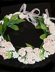 Dame Stof Medaljon-Bryllup Blomster Krans