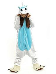 Kigurumi Pyjamas Unicorn Heldragtskostumer Pyjamas Kostume Flanel Fleece Hvid Cosplay Til Voksne Nattøj Med Dyr Tegneserie Halloween