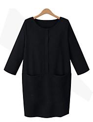 billige -Dame-Ensfarvet Basale Bluse