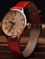 Women's  Stylish Retro Minimalist Leather Watch Circular High Quality Japanese Fashion Watch Movement(Assorted Colors) Cool Watches Unique Watches