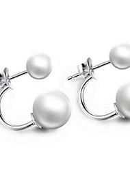 preiswerte -Damen Perle Modeschmuck Sterling Silber Schmuck Für