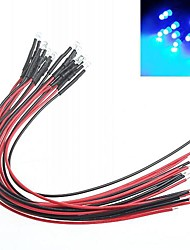 DIY Car Modification indicator 3mm Red Light LED Bulbs Multicolor (10-Piece)