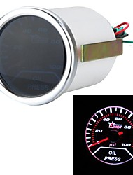 "2"" 52mm 0-100PSI Universal Car Smoke Lens Pointer Oil Pressure Gauge Car Styling Auto Gauge Meter Car Instrument"