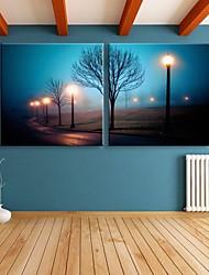 e-Home® allungato portato canvas stampa effetto street art a lampada flash led lampeggiante set di stampa in fibra ottica di 2