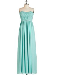cheap -A-Line Sweetheart Neckline Floor Length Chiffon Bridesmaid Dress with Criss Cross by