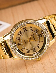 baratos -Mulheres Relógio de Pulso Venda imperdível Lega Banda Brilhante / Fashion / Relógio Elegante Prata / Dourada / Rose / Um ano / SSUO LR626