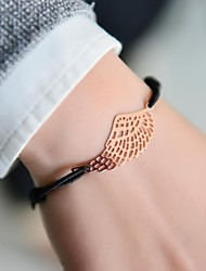 cheap -Women Charm Bracelet Nylon Unique Design Fashion Others Wings / Feather Silver Golden Jewelry 1pc