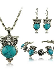 Women's Turquoise Wedding Special Occasion Anniversary Birthday Engagement Gift Daily Alloy Earrings Necklaces Bracelets