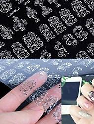 preiswerte -1 pcs 3D Nails Nagelaufkleber Nagel Kunst Maniküre Pediküre Blume / Modisch Alltag / 3D Nagel Sticker