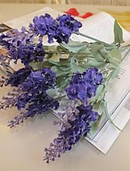 cheap -Branch Silk Plastic Lavender Tabletop Flower Artificial Flowers