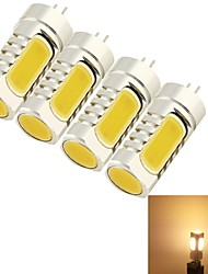 cheap -5W G4 LED Corn Lights T 4 leds COB Decorative Warm White 400-450lm 3000K DC 12 AC 12V