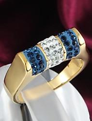 preiswerte -klassische 18k vergoldete Legierung Anweisung Ringe (1pc) eleganten Stil