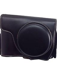 economico -dengpin® coperchio di protezione rimovibile fotocamera retrò cuoio dell'unità di elaborazione caso borsa con tracolla per Nikon Coolpix p7700 p7800