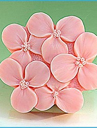 cheap -Lilac Flower Shaped Fondant Cake Chocolate Silicone Mold