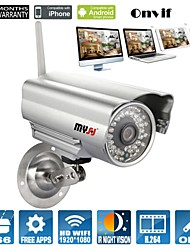 cheap -Bullet Outdoor IP Camera 1080P Day Night Waterproof WIFI (1/3 Inch Color CMOS Sensor)